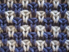 """...Rose Fabric by Anonyknits...Barbara Walker """"Learn to Knit Afghans"""""""
