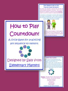 Elementary Matters: Practice Makes Permanent and Games Make it Fun!