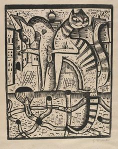 The Dignitaries 1923, Woodcut The Maxine Hornung Collection, Gerhard Marcks cats