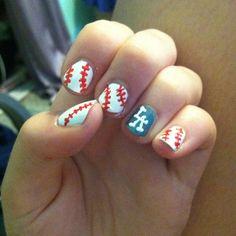 Baseball nails - LA Dodgers