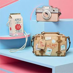 This season, we'll mainly be carrying around these completely amazing bags. Shop them online and instore now! Unique Purses, Cute Purses, Unique Bags, Kawaii Bags, Creative Bag, Accessorize Bags, Novelty Bags, Cute Bags, Chain Shoulder Bag