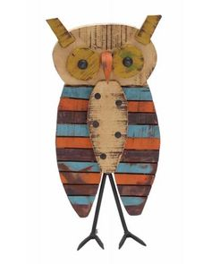 Rustic Multicolor Wood Painted Owl - The owl is made from long lasting wood in multicolor shades. Multicolor rich shades of this owl will definitely steal the spot light of many. The owl is accented with glitter that can catch hold of many viewers. The owl can be placed on a small table besides tickling alarm clock for a style touch. It can also be used to adorn the showcases, living rooms, bare surfaces, and many similar places