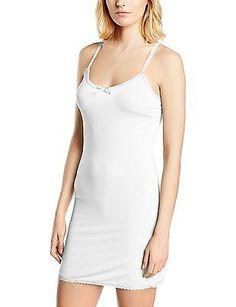 16, Weiß (chalk 60034), Cream Women's Lise Underdress Sleeveless Dress NEW