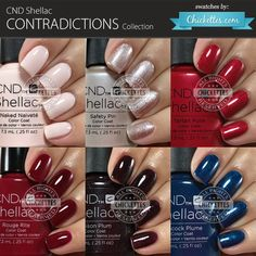 CND Shellac Contradictions Collection - Fall 2015 - Swatches by Chickettes.com