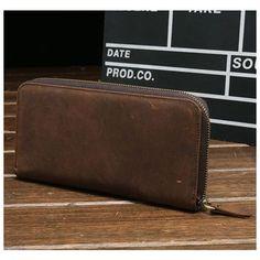 Genuine Leather Vintage Coin Bag Business Zipper Long Inche Phone Wallet For Men Shopping Online - NewChic Mobile Phone Wallet, Zip Wallet, Zip Around Wallet, Leather Men, Leather Wallet, Site Mode, Cuir Vintage, Coin Bag, Bag Sale