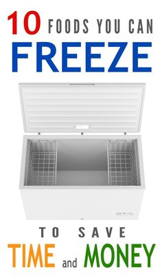 10 foods you can freeze to save time and money! Check out these maybe surprising…