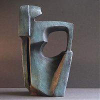 Kunst brons beeld - Alied Nijp Holman - Zittende vrouw