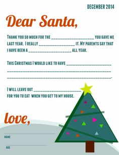Santa Letters  Free Printable Letters To Santa  Printable