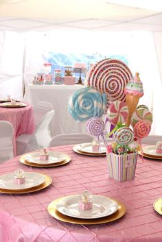 Pastel Carousel Circus Baby Shower Party Ideas | Photo 1 of 19 | Catch My Party