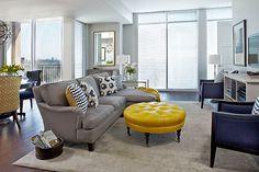 Navy U0026 Yellow U0026 Gray Living Room Yellow May Be A Bit Much.