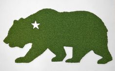 California Bear Synthetic Grass Doormat | Rug | Wall Art Decor  Display your California pride with this unique doormat!  - Synthetic putting green grass -