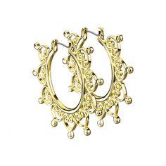 Ohrring vergoldet filigrane Herzen aus Edelstahl Piercing, Crown, Jewelry, Studs, Stainless Steel, Schmuck, Corona, Jewlery, Bijoux