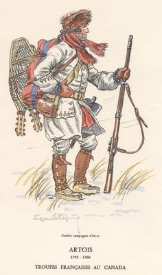 French troops in Canada. 1755 1760.