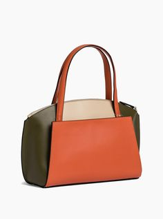 Sac à main lily refente de vachette orange - femme - le tanneur 3