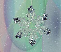 Beaded snowflake.