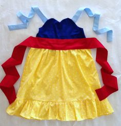 easy dress up costumes... Snow White Inspired Sweetheart Dress from Disney movie Princess Party Dress Up --  girls toddler costume children clothing. $38.50, via Etsy.