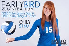 **Early Bird Registration EXTENDED!! - GET FREE Gear!  - Only $160 for a 10 week Competitive Instructional League.  - Girls will receive 45 min of instruction & 45 min of application every night, giving them the chance to use the skills taught in a real sense.  - Starts Feb. 25th goes for 10 weeks, Monday nights 5:30-7 & 7-8:30. Sign Up Online today >> www.pulsesports.org/signup to get your FREE Gear and Hold your spot! Your daughter will never forget this experience!