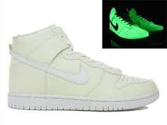 best service 08dcb ec783 Glow In The Dark Nike Dunks High Tops Shoes  Cool High Tops Nikes Dunks  Adidas Converse Cartoon Shoes, Cheap For Sale