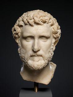 """Marble portrait of the emperor Antoninus Pius"" (ca. 136-161 CE). Roman, Antonine period. Posted on metmusem.org."