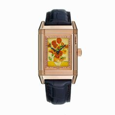 As a tribute to the Dutch painter van Gogh, the dial of the @jlcwatches Reverso #watch, a limited-edition of five, shows how the alchemy of enamel painting can recreate the vibrant yellows of the #Sunflowers.  #Art #Painting #Luxury #VanGogh #watches #flowers #amazing