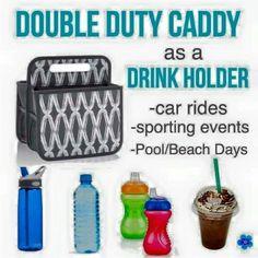 Double duty caddy as a drink carrier, what a great idea! www.mythirtyone.com/micheleliebig