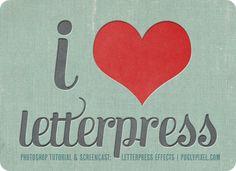 Letterpress tutorial for Photoshop