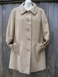 1960s Vintage Wool Fall Winter Coat Jacket In by VintageEclectica, $135.00