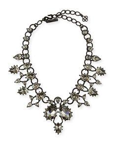 Pear Crystal Statement Necklace by Oscar de la Renta at Neiman Marcus.