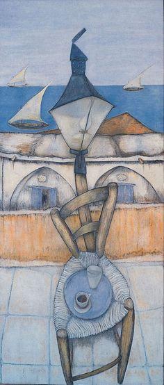 Γεωργίου Γεώργιος-Ο Βαρύς Γλυκός Modern Art, Contemporary Art, Greece Painting, Artist Painting, Abstract Paintings, Greek Design, 10 Picture, Greek Art, Cool Art
