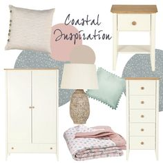 Team our new Cornwall Range with dusky pinks and hues of #duckegg. #coastal #bedroomidea #inspiration