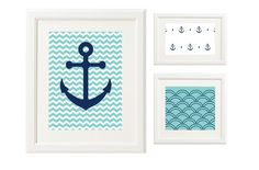 This nautical collection:   24 Awesome Nursery Wall Prints That Cost $0