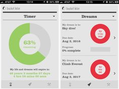 Bucket Lister is a morbid, colorful to-do list for your dreams and lifegoals