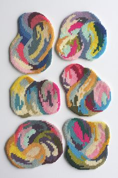 a good thing for your insane needle point skillz @Karyn Holinaty Holinaty Holinaty needlepoint coaster by CRESUS artisanat