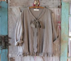 linen top flare design in cocoa brown/natural stripe ready to ship
