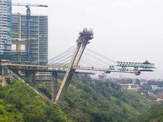 #Construcción del #puente atirantado Vidalta, en la ciudad de #México (vía Club Construction) Vía twitter @GeotechTips #Ingeniería