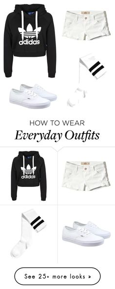"""everyday outfit"" by misomegann on Polyvore featuring Hollister Co. and Vans"