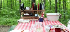 How to wash dishes when camping #camping