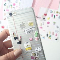 Phone cover: yeah bunny, notebook case, iphone, iphone case, transparent notebook, back to school, stickers, crown, heart, lipstick, quote on it phone case - Wheretoget http://amzn.to/2qZ3RzU