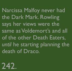 It's still hard for me to think of her as evil.  Almost all that we saw of her in the book had her acting as a mother, not a Death Eater.