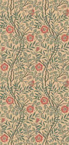 Sweet Briar Green/Blue/Rust från William Morris & Co