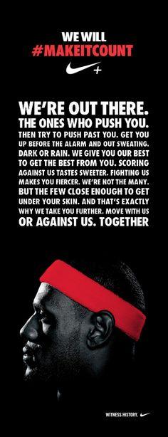 Nike - Make It Count #Brand #Manifesto