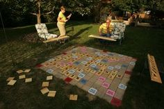 Who wouldn't want one of these out back? Giant outdoor scrabble    www.instructables.com