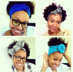 Four different ways to wear a head scarf