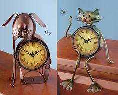 Metal Animal Clocks