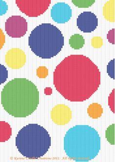 Crochet Patterns - POLKA DOTS Graph Pattern SCRAP YARN #KarensCradleCreations