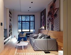 Traditional space redesigned into a dreamy modern apartment