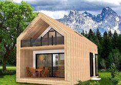 Te koop: MOD op MAAT - modulaire woning - Real Estate Slovenia - Mountain Cabin MOD - www. Tiny House Design, Modern House Design, Home Design, Small Modern House Plans, Tyni House, Prefab Homes, Prefab Tiny Houses, Modern Farmhouse Exterior, Tiny House Movement