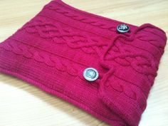 Aran Laptop Cover By Michael del Vecchio - Free Knitted Pattern - (ravelry)