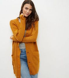 JDY Rust Longline Cardigan  | New Look £22