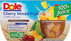 Dole Fruit Bowls, Diced Peaches in Fruit Juice, 4 oz, 4 cups -- A special product just for you to view. Dole Fruit Cups, Mandarin Juice, Mandarin Oranges, Mixed Fruit Juice, Fresh Fruit, High Fiber Fruits, Pear Fruit, Peach Juice, Cake Tasting